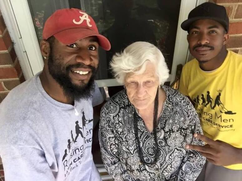 """""""We did this sweet lady's lawn today. She is 93, the neighbors told us that she been out their trying to cut her own lawn 😳. Have no fear, raising men lawn care is going to make sure her lawn is done every two weeks ! Making a difference in our community! Credit: Rodney Smith Jr"""