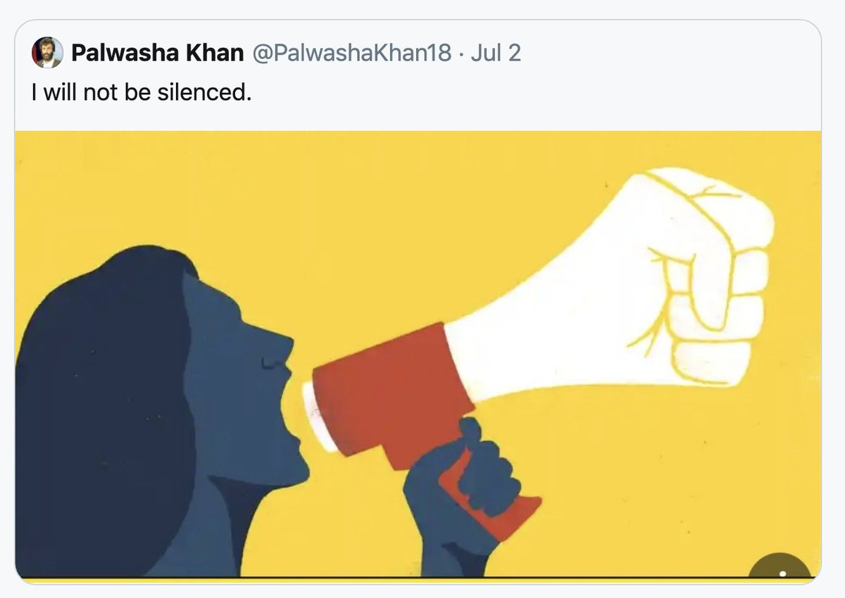 This is how I feel when #PPP tries to silence me with threats of abuse/rape. But I will not be silenced either @MediaCellPPP.  Perhaps one day you'll see that I am advocating for all women -including BB's children- to marry whom they choose and receive their rightful inheritance