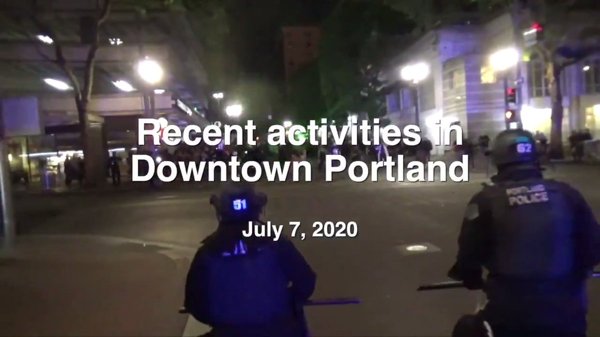 Portland Police released a video about the violence far-left rioters have perpetrated for the past six weeks. They don't say it but the those involved in the riots are propagating the message, tactics, uniform & goals of antifa + BLM.