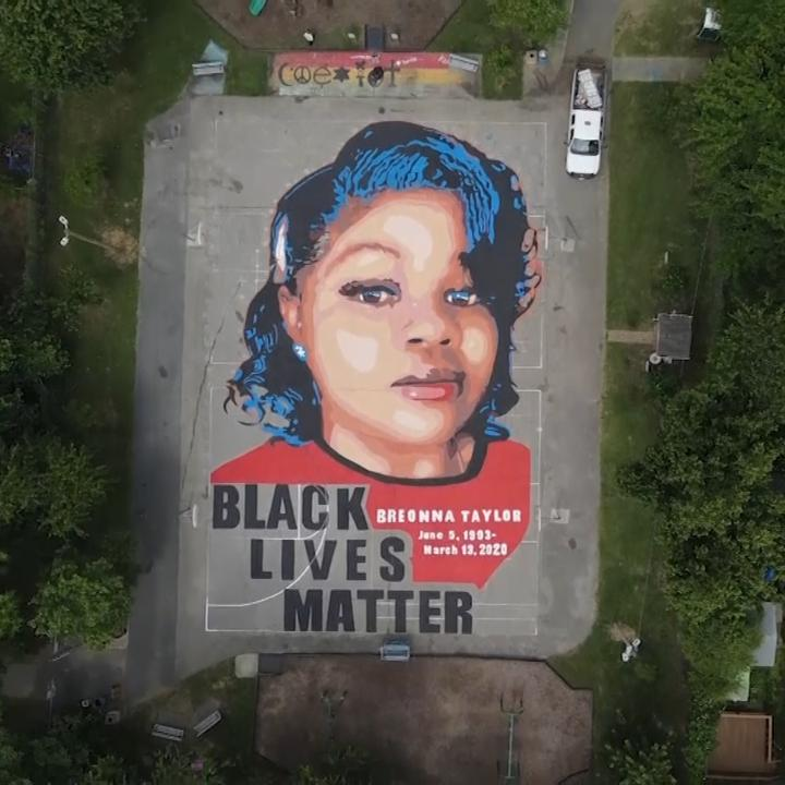 Watch: A 7,000-square-foot (650-square-meter) mural honoring Breonna Taylor, a 26-year old Black woman who was fatally shot by police in her Louisville, Kentucky, apartment, has been put in a Maryland park