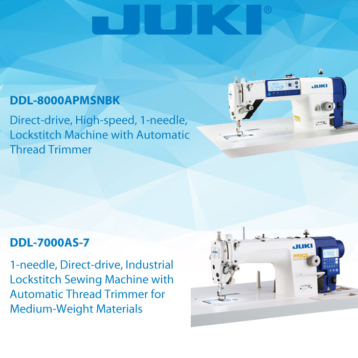 JUKI LOCKSTITCH MACHINES  JUKI DDL-7000AS-7    JUKI DDL-8000APMSNBK    AVAILABLE FROM STOCK FOR IMMEDIATE DELIVERY  #JUKI #Lockstitch #Sewing #Sew #Needles #Machine #Sewingmachine #csmp #Collegesewing