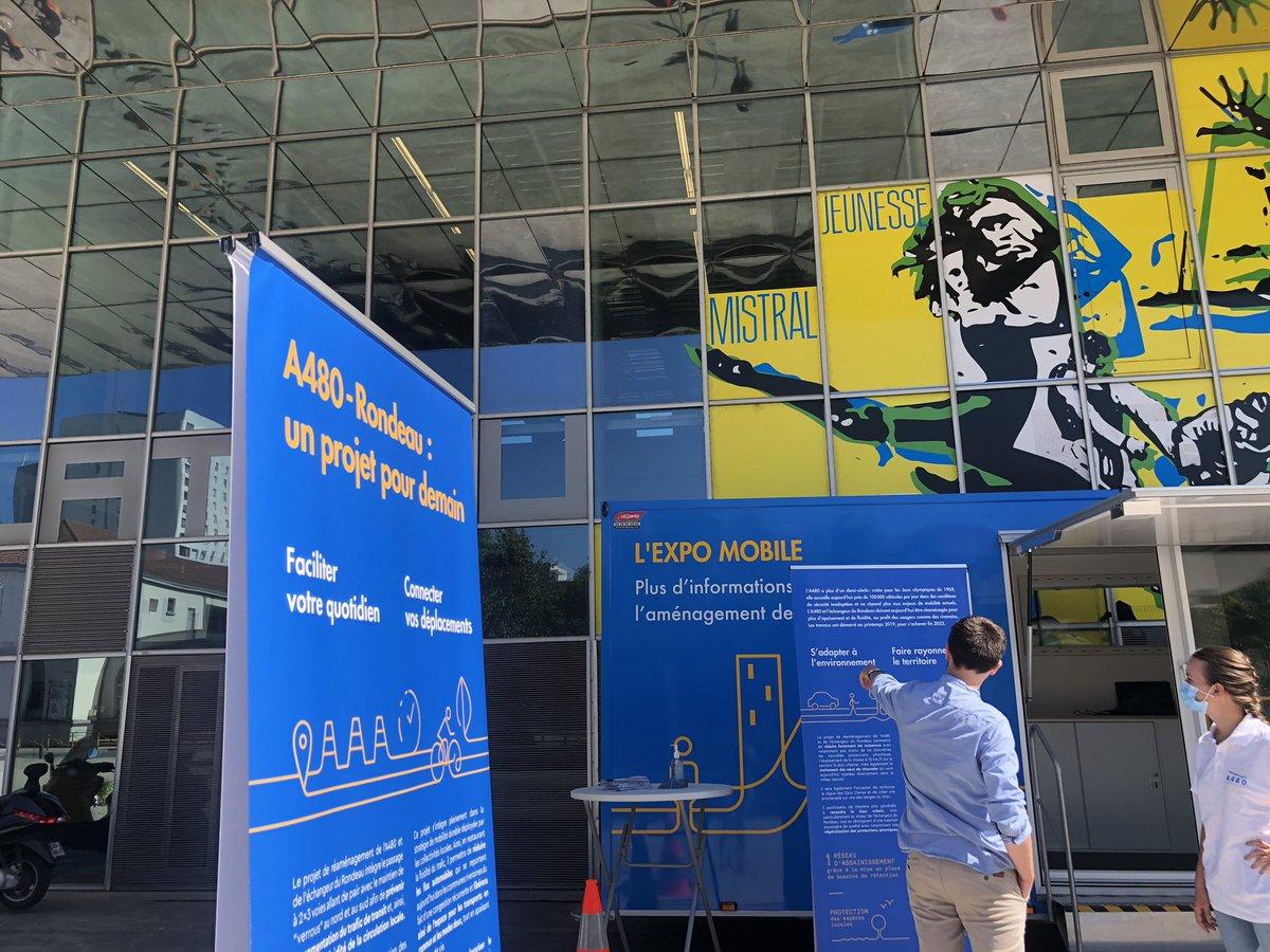 Ce matin, l'#ExpoMobile #A480Rondeau est devant le Plateau (quartier Mistral). Nous vous attendons pour répondre à vos questions 🙂