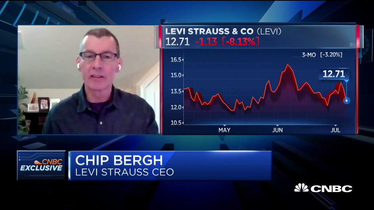"""How has the pandemic changed consumer behavior?  """"I think the days of conspicuous consumption are gone."""" Levi's CEO Chip Bergh weighs in on the coronavirus impact."""
