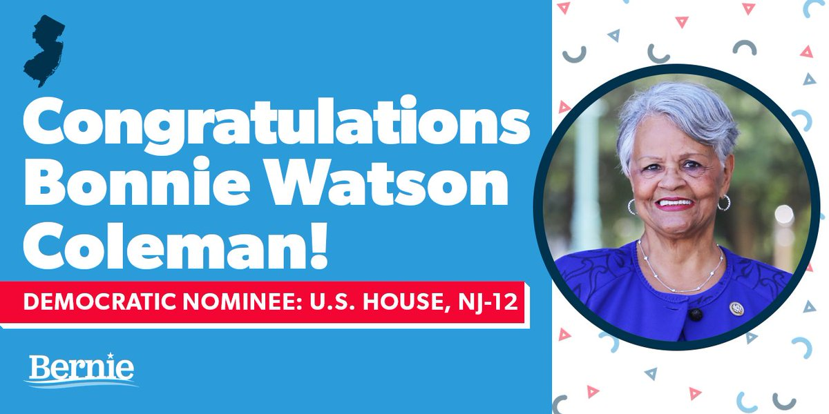 Congratulations to @Bonnie4Congress for winning her primary last night. I look forward to continue working with her in Congress to fight for working people across New Jersey and the entire country.