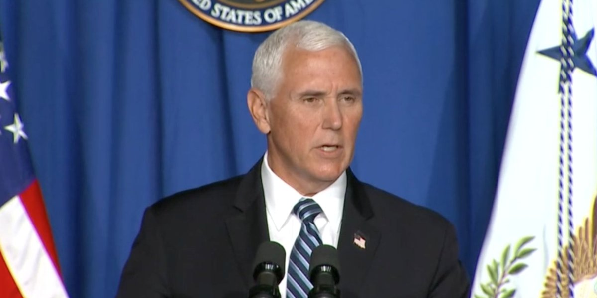 """""""We are encouraged that the average fatality rate continues to be low and steady,"""" says @VP of the #coronavirus pandemic in the US."""