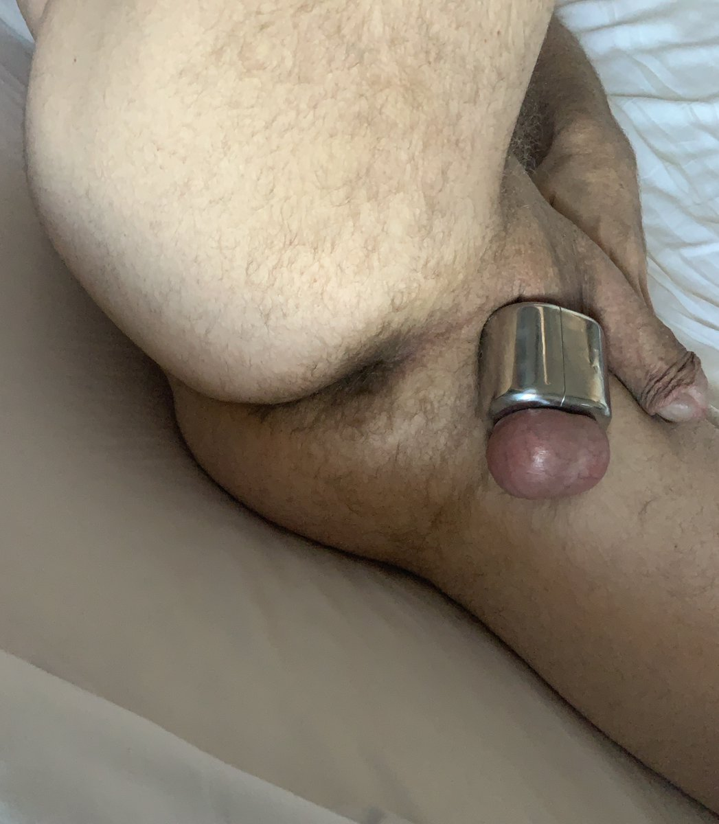 In major need of some Asian or Latino cock to worship with my mouth, plow my hole breeding me, and marking me as their's with their piss. Crazy-horny for average to smaller cocks.  #ballweight #ballstretcher