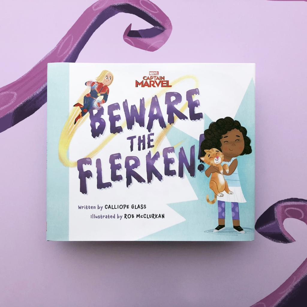 """In this new Captain Marvel picture book, Goose SLORPS some alligators and finds a new friend in Monica Rambeau. Read """"Beware the Flerken!"""" today:"""
