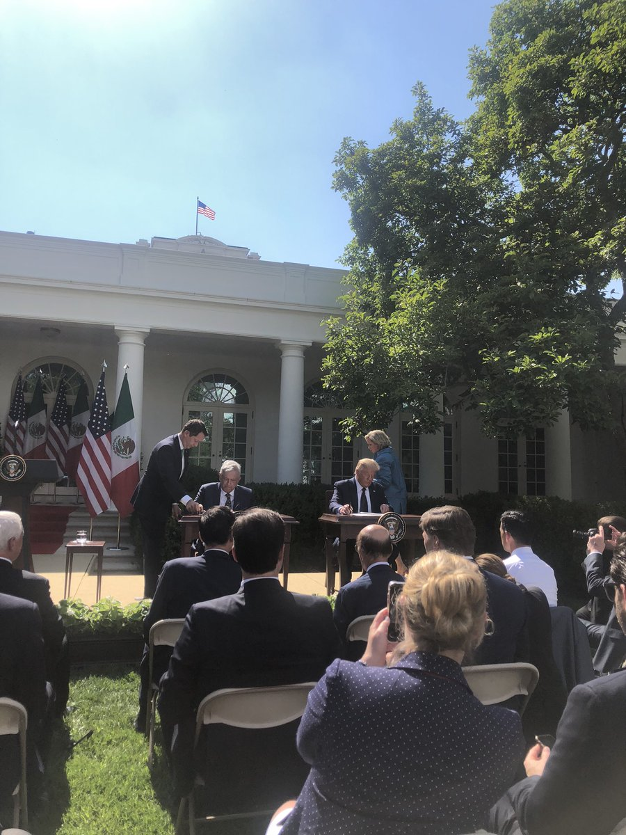 President Trump has not answered questions from WH reporters for TWO WEEKS, amid a worsening pandemic. At today's Rose Garden ceremony with President of Mexico - he ignored reporters even though -  traditionally leaders take two questions from reporters. @CBSNews