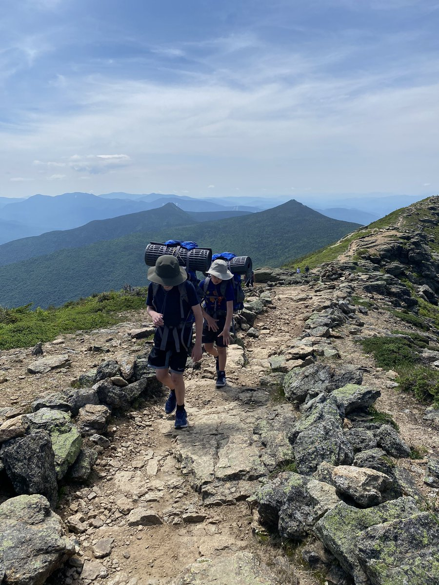 Proud of our two little guys. The four of us just finished a 3 day hike in the White Mountains - 4 4,000 foot peaks!