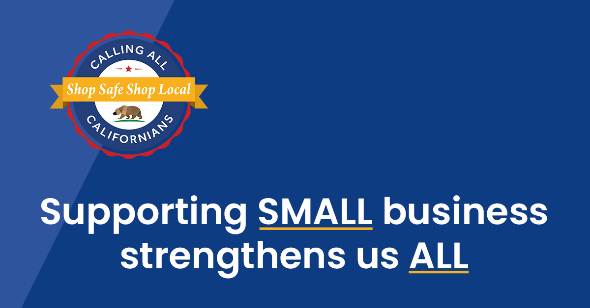 "During ""California for All Small Business Month,"" the state is proud to launch the #ShopSafeShopLocal campaign to lift up California small businesses, their employees and the neighborhoods they serve. 💳🙋🏾  Learn more:"