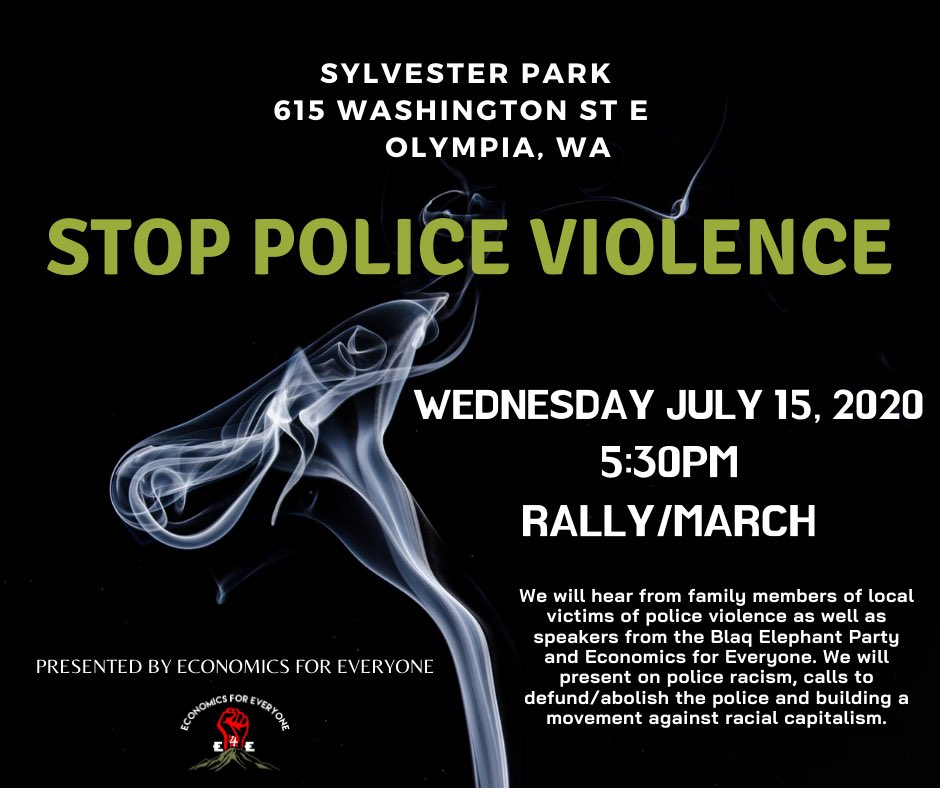 Damn this blew up. If you don't follow me plz follow my anti-capitalist group @econ4e We host political-economic workshops every few weeks.If you're in WA on Wednesday July 15th we'll present on police abolition/racial capitalism & marching after. Flyer below #AbolishThePolice