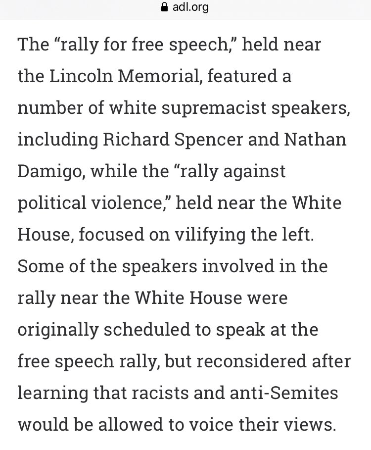"June 2017, @JackPosobiec organized a new rally ""after learning that racists & anti-Semites would be allowed to voice their views"" at the original rally. ""Posobiec has clashed verbally with white supremacist Richard Spencer who called Posobiec's Rally... 'pathetic.'"" (Source: ADL)"