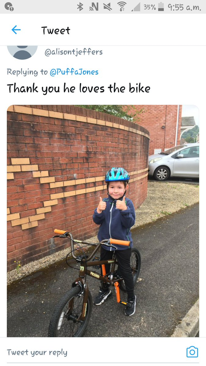 Every child deserves a bike! Thank you all for your support and donations.....you are making little people very happy.  #freebikes4kids #community #giving #recycle #cycling