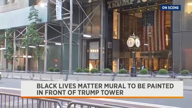 Much to the disapproval of the President, a Black Lives Matter mural is reportedly expected to be painted in front of Trump Tower on Fifth Avenue this morning. @LindsayTuchman