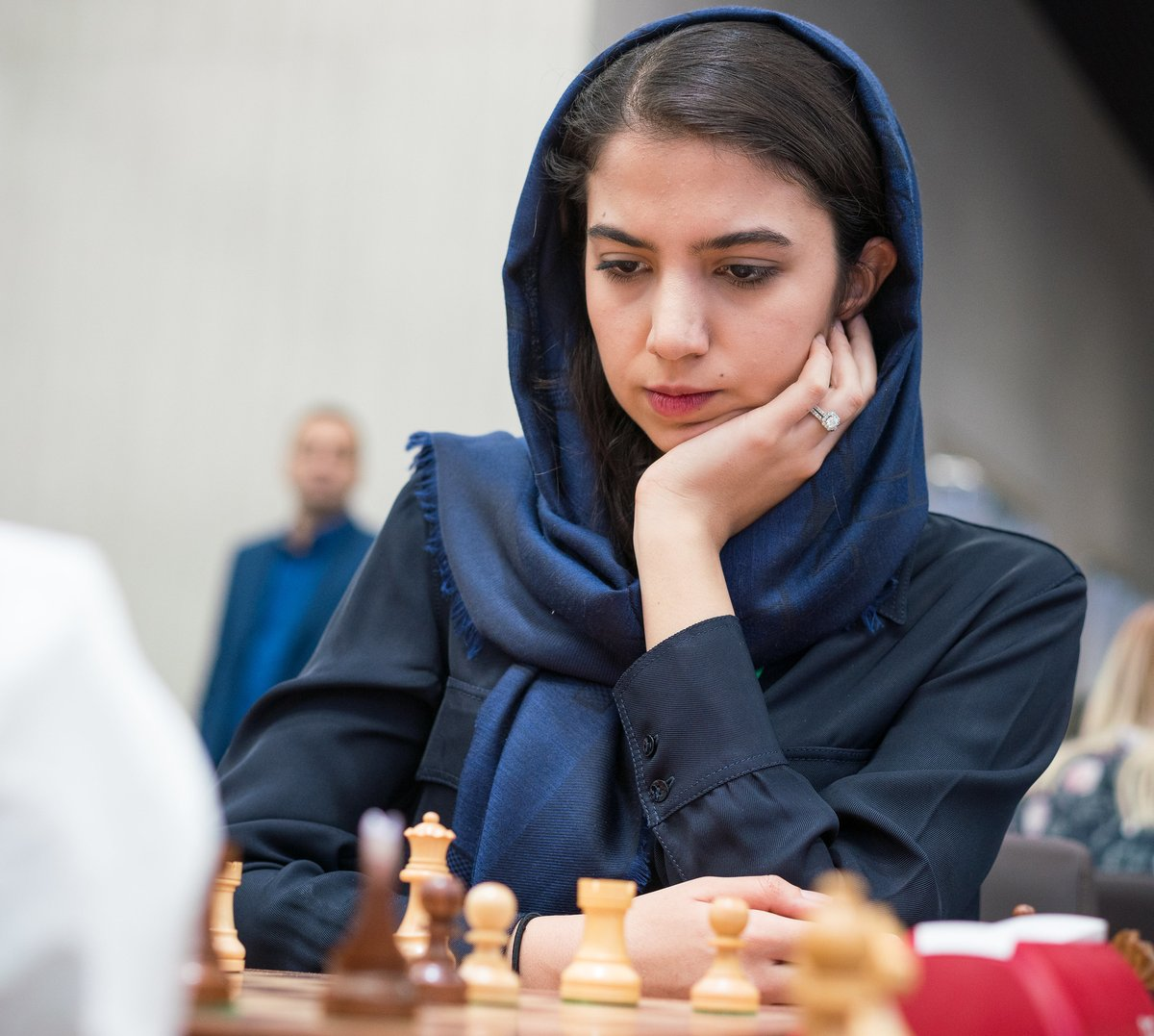 test Twitter Media - Sarasadat Khademalsharieh defeats women's world champion Ju Wenjun 7-5 and advances to the semis of Leg 3 of the Women's #SpeedChess GP.   The Iranian player had a one-point lead going into the bullet portion where she won two more games to seal the deal.   #WomenInChess #chess https://t.co/l7xqsJgc4S