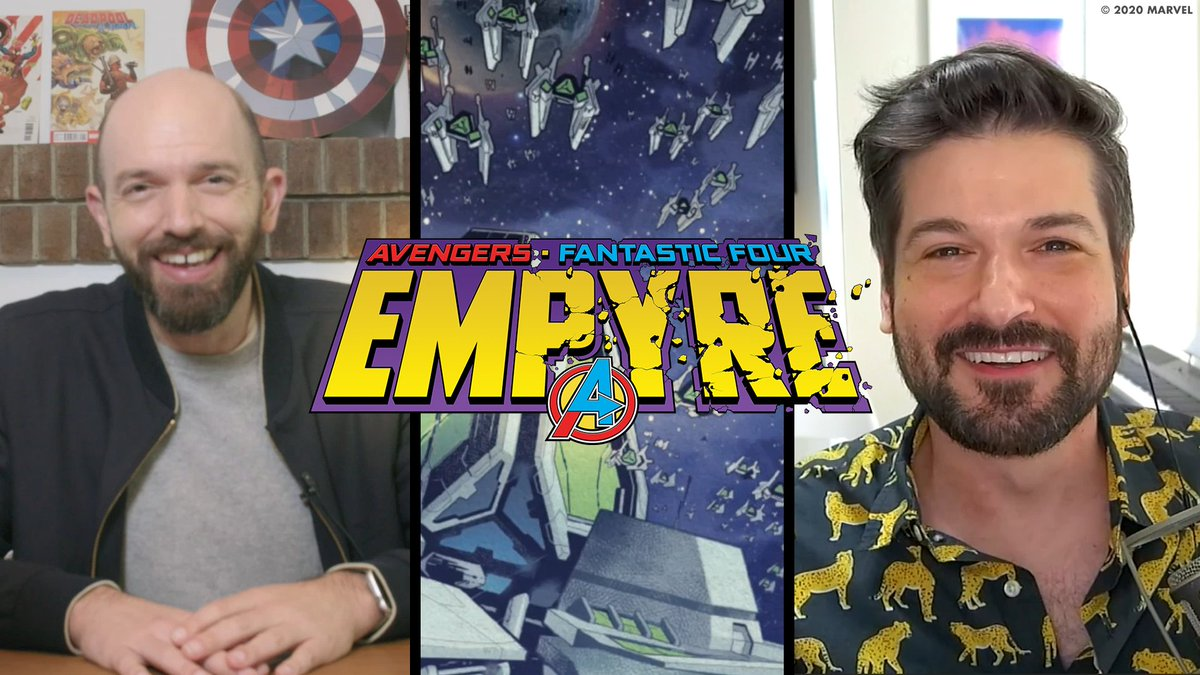 """""""The #StarWarsShow"""" host @acarboni stops by from a galaxy far, far away to talk about EMPYRE on a new """"World's Greatest Book Club with @PaulScheer""""! ✨  Watch the full episode now:"""