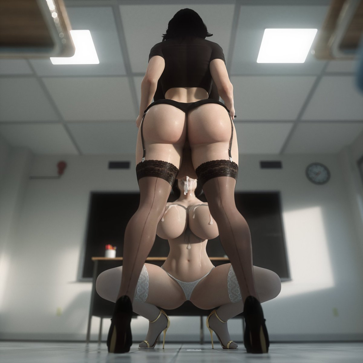Commission  After class private lesson😏  Miranda by @Rigid3d   Patreon:   DL: