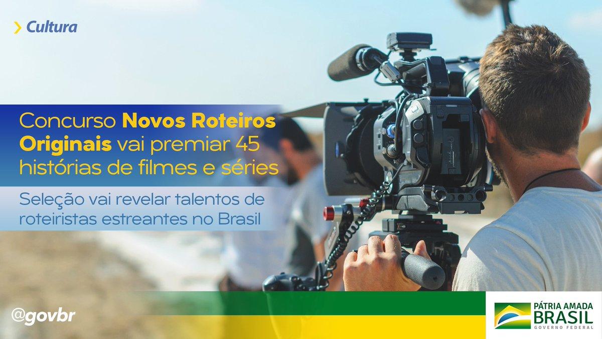 Em parceria com a Secretaria Especial da Cultura, a Organização dos Estados Ibero-americanos lançou o edital do Concurso Novos Roteiros Originais - Edição Brasil. A seleção é aberta a pessoas físicas maiores de 18 anos de idade. As inscrições são gratuitas e vão até 31 de agosto.
