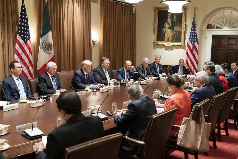 Glad to join President @realDonaldTrump to welcome Mexican President @lopezobrador_ to Washington D.C. and celebrate the landmark U.S.-Mexico-Canada #USMCA trade deal coming into force.