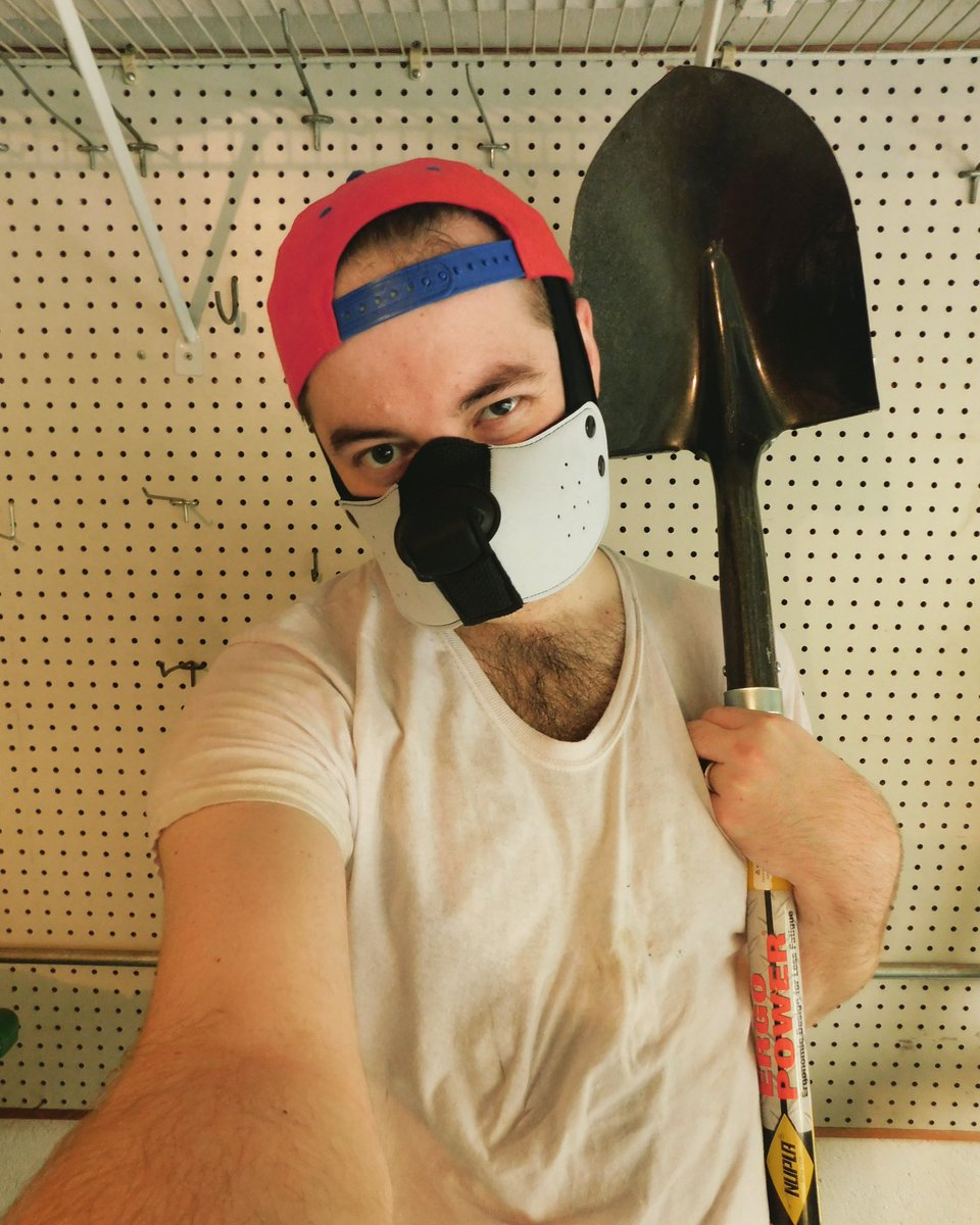 I bought a shovel. Am I daddy now? 😂  #pupplay #puppyplay #gay #gayboy #humanpup #humanpupplay #humanpuppyplay #gaypup #hairyhomo