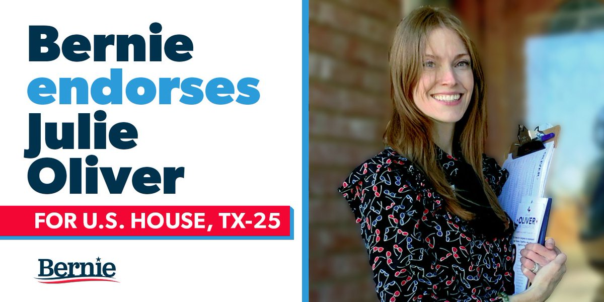 As someone who grew up in poverty, @JulieOliverTX knows the struggle working Texans face each and every day. The people of Texas' 25th Congressional District need Julie fighting for them in Congress, and I'm proud to support her grassroots campaign.