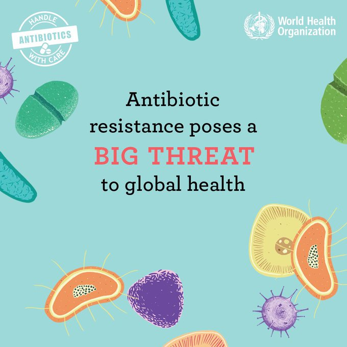 Due to rapidly ↗️ #AntibioticResistance the 🌐 is losing its most powerful tool in healthcare: #antibiotics.  It can affect anyone, anywhere, of any age 👶🏽👱🏻‍♀️🧔🏽👧🏻👵🏼👳🏾‍♂️  The #AMR Action Fund launched today aims to reverse this trend by supporting the development of new antibiotics