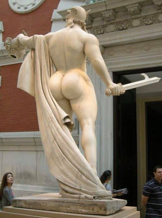 twitter, this is perseus right? how did he manage to approach medusa with the clap of those asscheeks??????