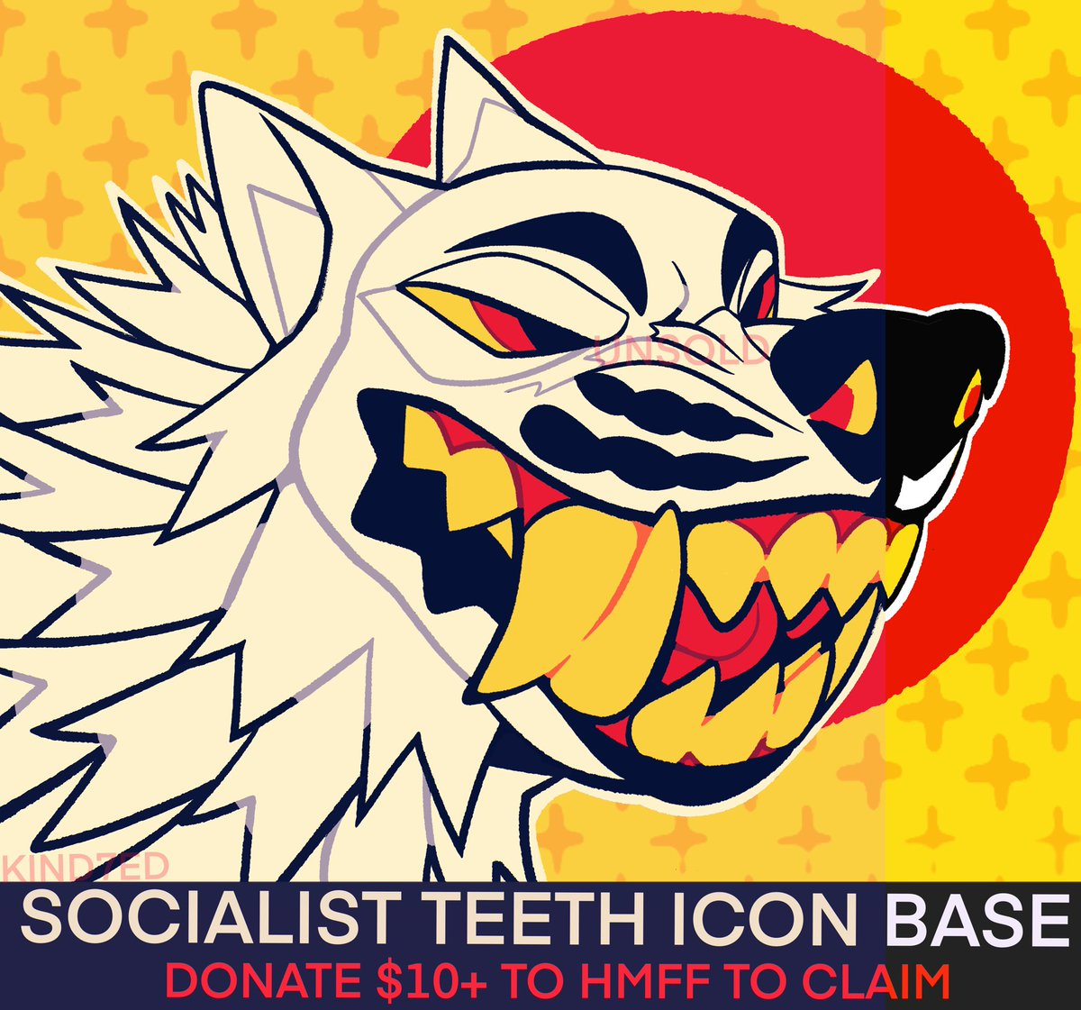 SOCIALIST TEETH ICON BASE  DONATE $10+ to @HMFURFEST TO CLAIM [DM ME PROOF OF DONATION AND YOUR EMAIL SO I CAN SEND THE FILE]  RTS APPRECIATED