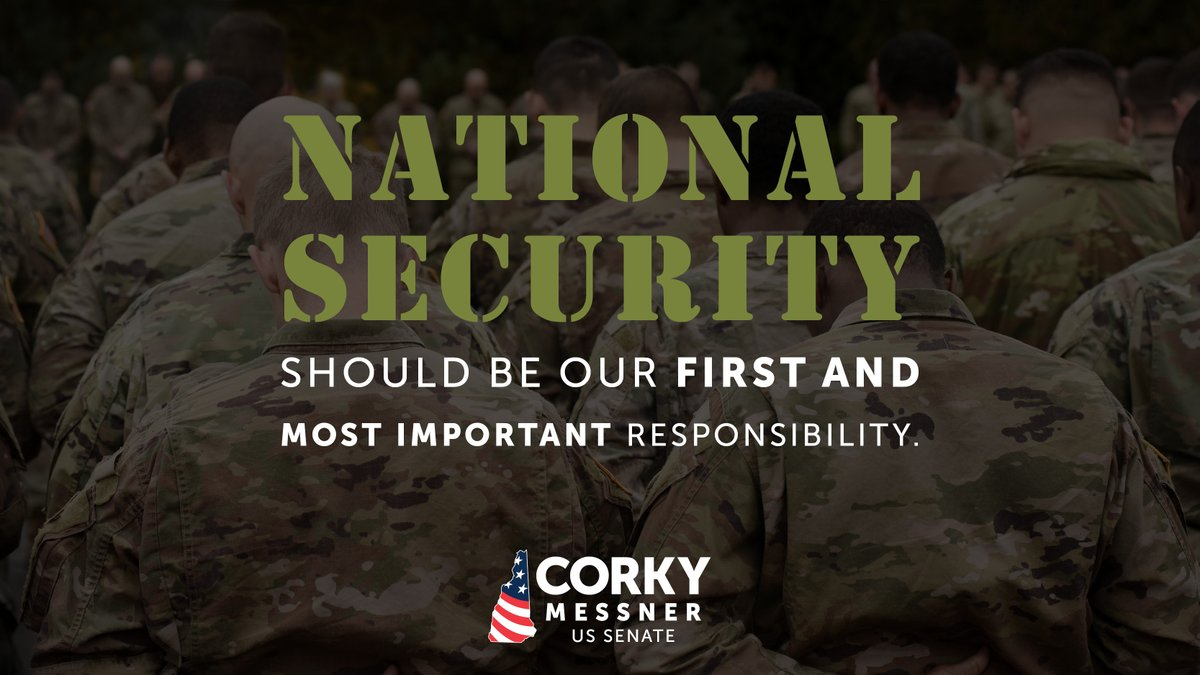 Corky is the patriarch of what is now a military family, with both his sons also having attended - and one graduating from - West Point.  He knows first hand that national security is the first and most important responsibility of our federal government.  #nhpolitics #NHSen #MAGA