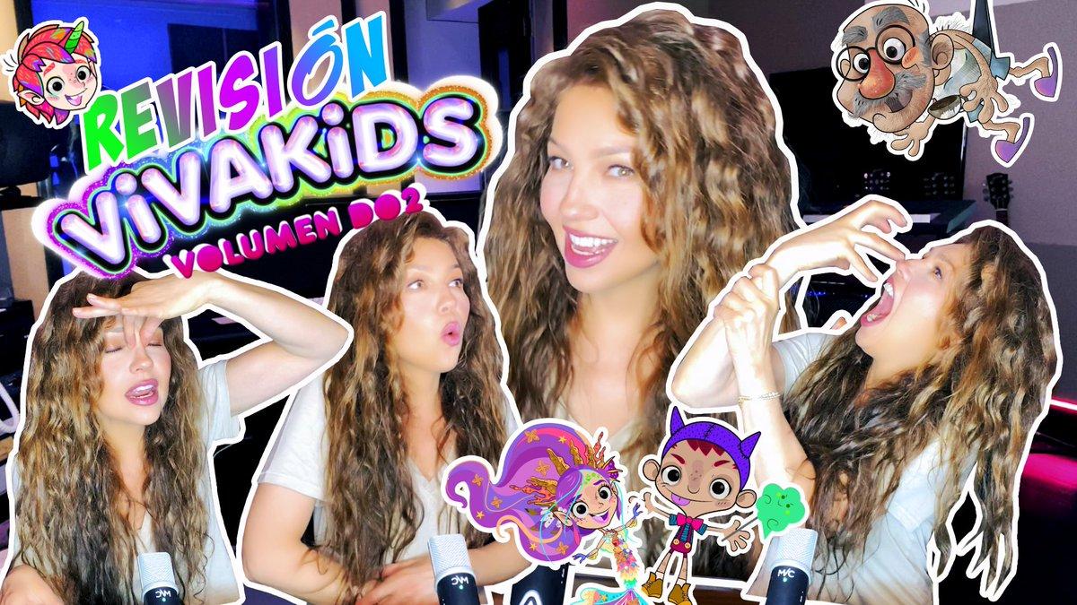 ¡Me divertí tanto haciendo esta reseña en video de mi nuevo álbum #VivaKids2! Haz clic en el enlace de abajo para que lo veas en mi canal de #YouTube. ¡RECUERDA SUSCRIBIRTE! 🎬🦄🍭🌟 ➡️   #VivaKids #ThaliaVivaKids #ChildrensMusic #MusicaParaNiños