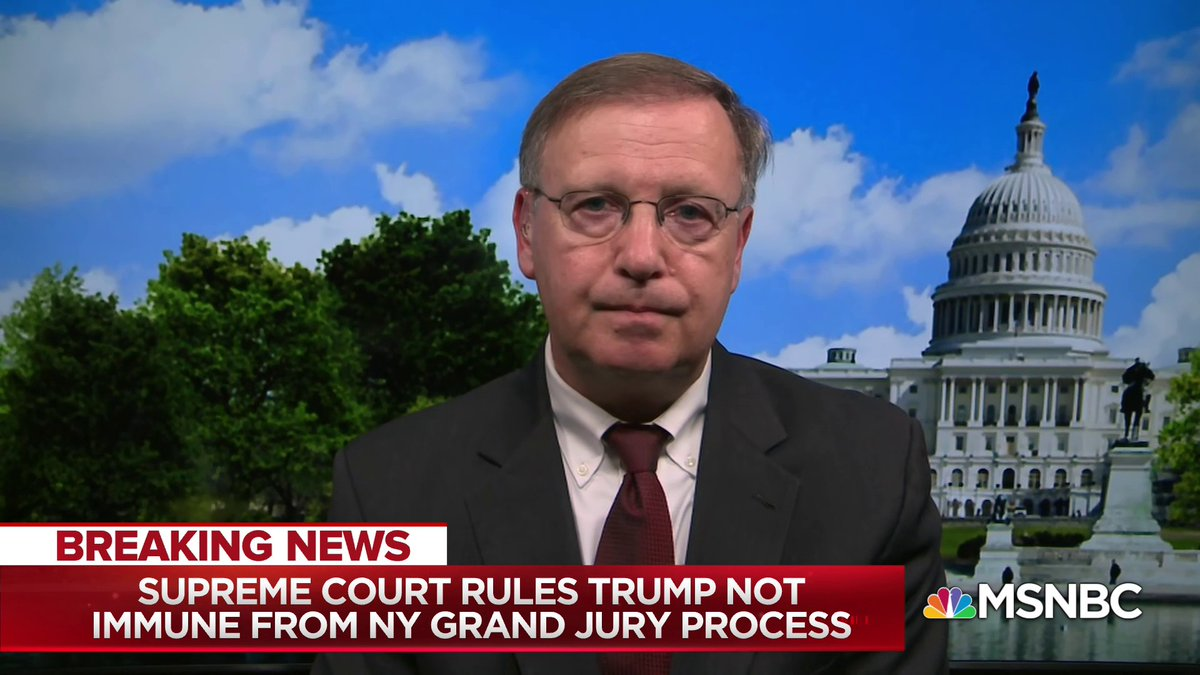 """""""We keep talking about tax returns, it's not just because we're curious to see how much money he made or how much of it he donated... What we want to see is how did he treat those checks that he wrote to Stormy Daniels on his returns"""" - Chuck Rosenberg w/ @NicolleDWallace"""