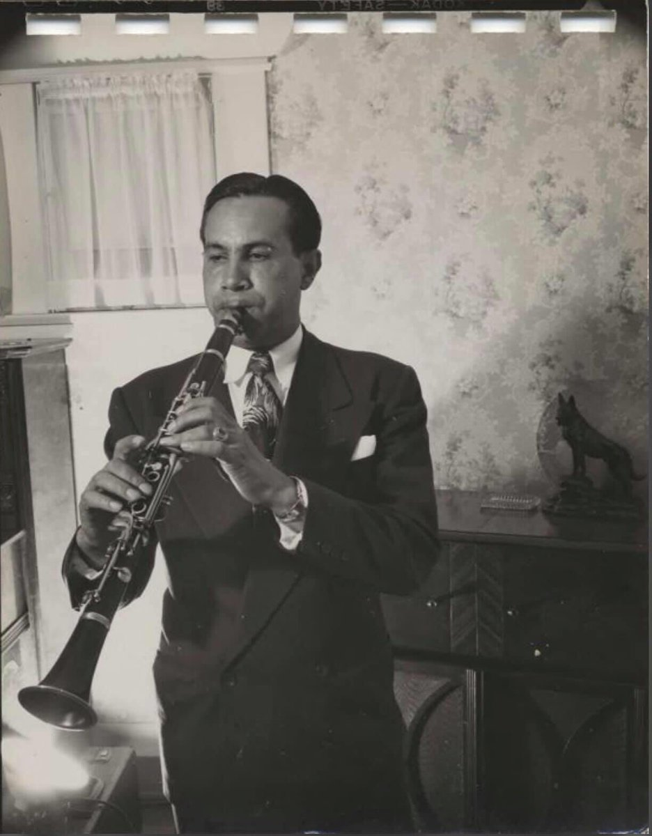Happy Birthday to late clarinetist and bandleader Joe Darensbourg, born on this day in 1906 in Baton Rouge, Louisiana. His lengthy career, spanning from the 1920's to the 1980's, included stints with Mutt Carey, Kid Ory, and Louis Armstrong's All Stars, among others.