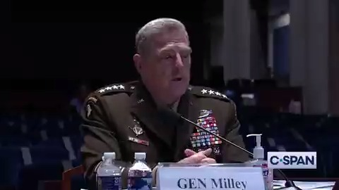 "Gen. Mark Milley on military bases named after Confederate Generals: ""The Confederacy, the American Civil War was fought, it was an act of rebellion, an act of treason... against the Union. Against the stars & stripes. Against the U.S. Constitution..."""