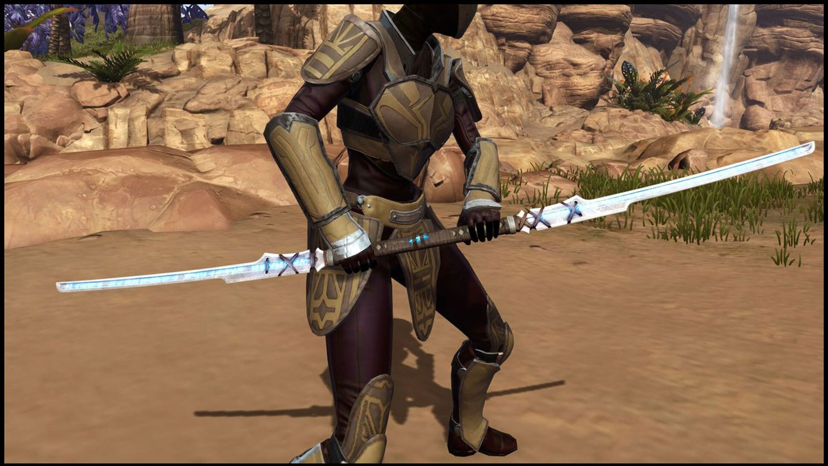 test Twitter Media - Double-bladed lightsaber lovers, one of the latest additions to the Cartel Market might be for you! You can now purchase the impressive Ancient Force-Imbued Bladestaff. https://t.co/qR12Ny2PpX