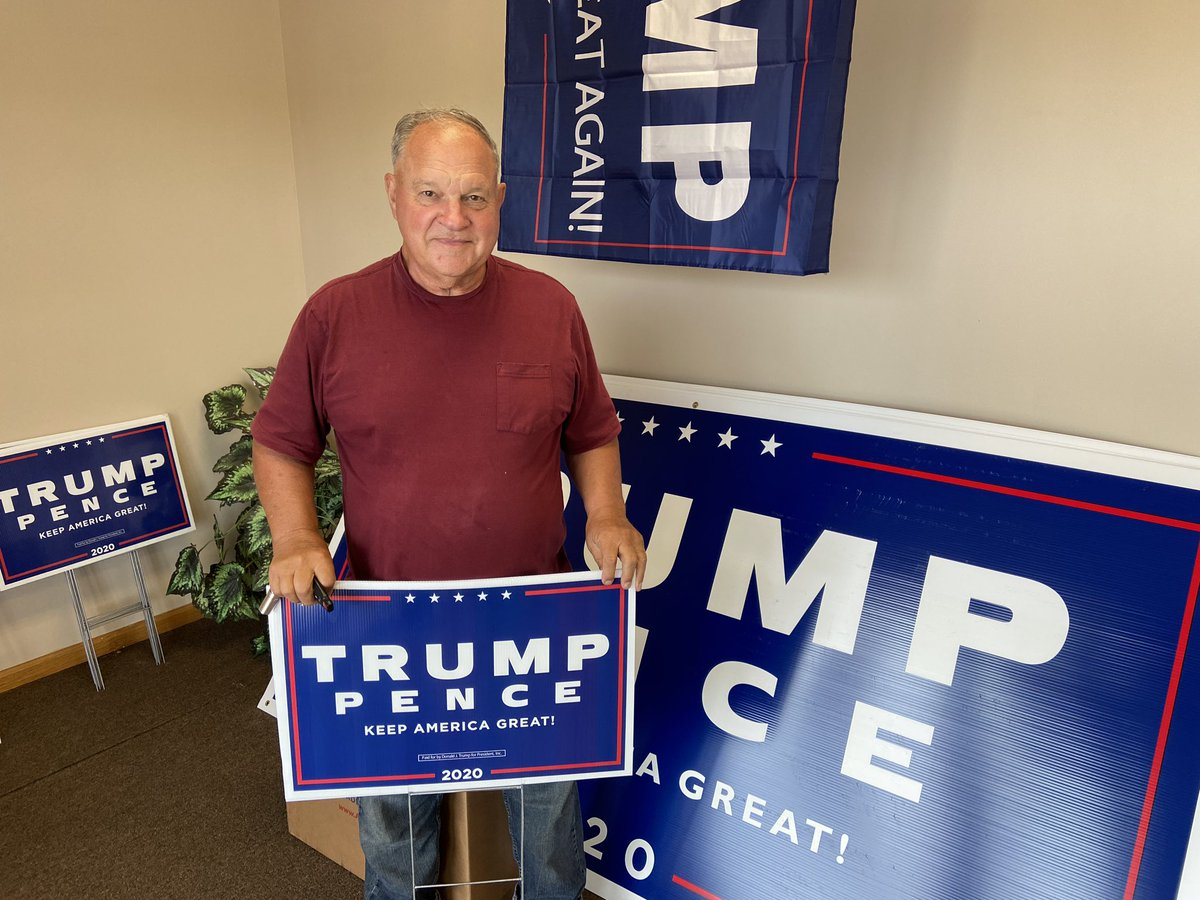 This is David, he is a 71 year old Vietnam war veteran. He came into the Chippewa HQ today for some Trump signs and wanted to know how to get involved. This is the first time he has ever been involved with a campaign. Thank you for your service David! #leadright #onwisconsin