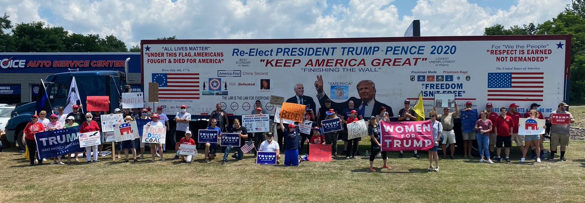 Not the welcome that @JoeBiden was expecting in Dunmore, PA today, but the one he deserves. #LeadRight #MAGA2020 #KAG2020