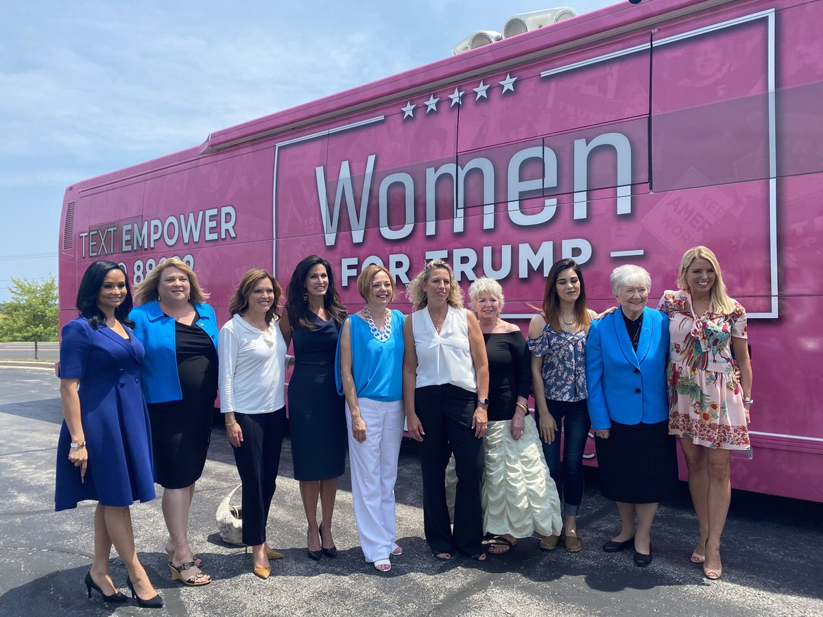 #WomenForTrump Bus Tour in Wisconsin.  We met with women small business owners who shared their stories about how PPP saved their businesses thanks to @realDonaldTrump @TeamTrump @KatrinaPierson @PYNance @PamBondi