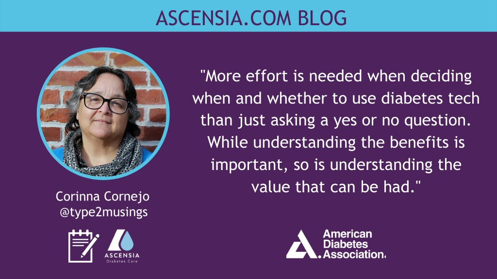 test Twitter Media - Corinna (@type2musings) reports on how to assess the value of tech in #diabetes management in our latest #ADA2020 blog. Read her insights about determining the value of #CGM in #type2 diabetes by looking at factors like benefit, cost & quality of life: https://t.co/zEWFJ2RWSQ https://t.co/6Mh0o8QPc5