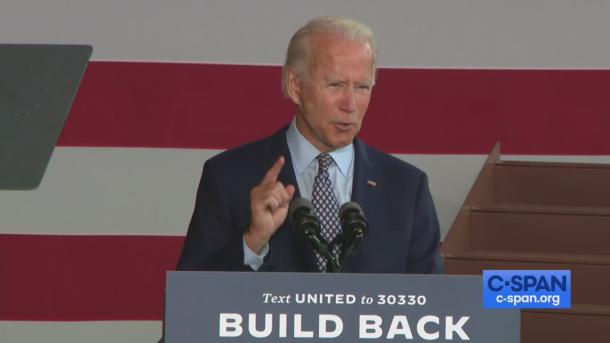 .@JoeBiden tours McGregor Industries metal works facility and delivers remarks on economic recovery in Dunmore, Pennsylvania - LIVE on
