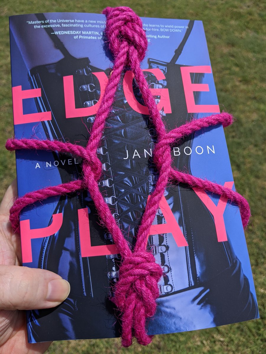 "Special thanks to @JaneEBoon for sending a preview copy of her new book ""Edge Play!""  I'm looking forward to untying the bondage rope from @deGiottoRope (who I will be checking out because I need new rope) and digging into this book for a review soon!  #BookReview #dominatrix RT!"