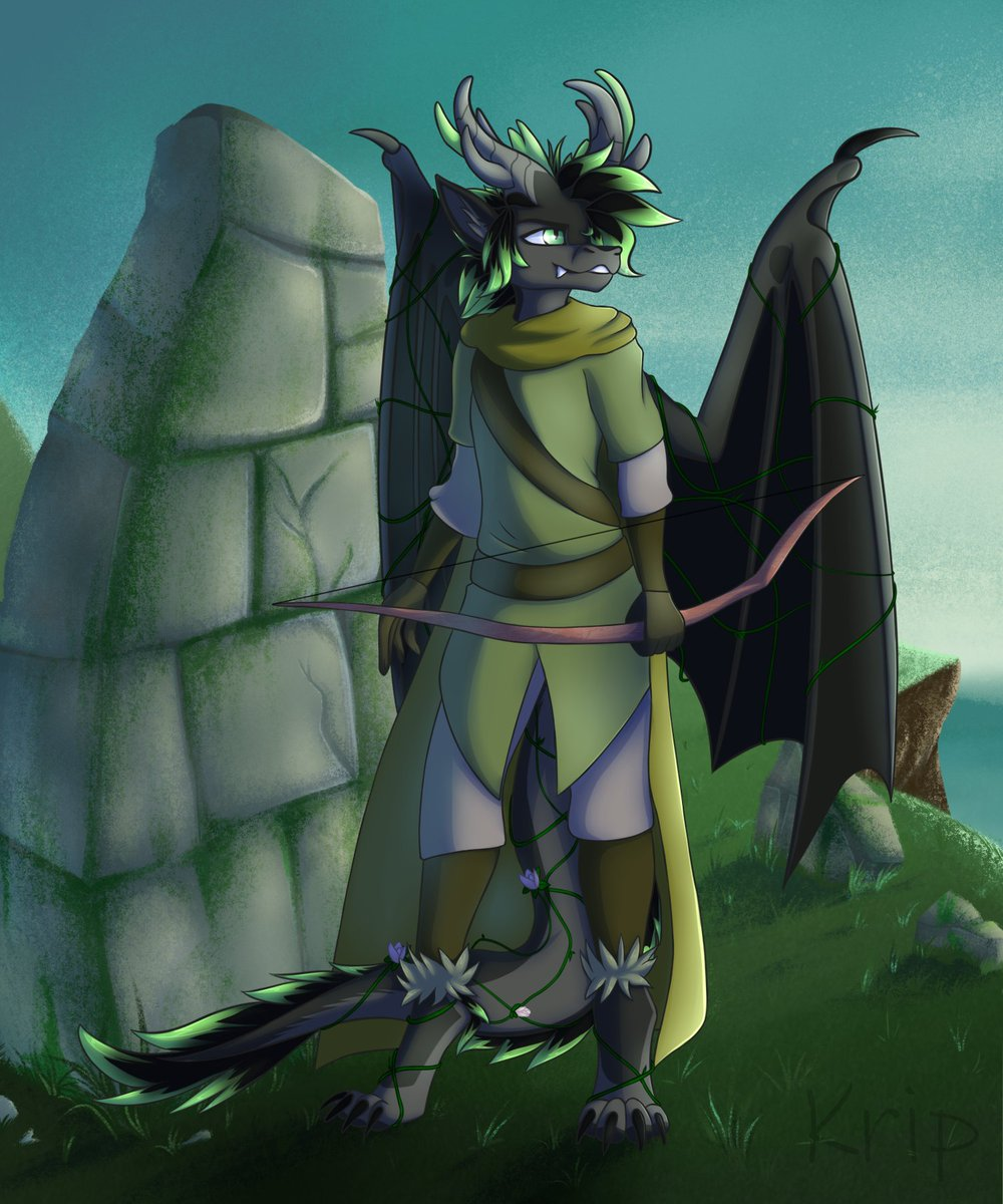 Wandering archer Finished Ych for RagingMoonbeam  If you want ych or commission from me:   #furry #anthro #archer #ych