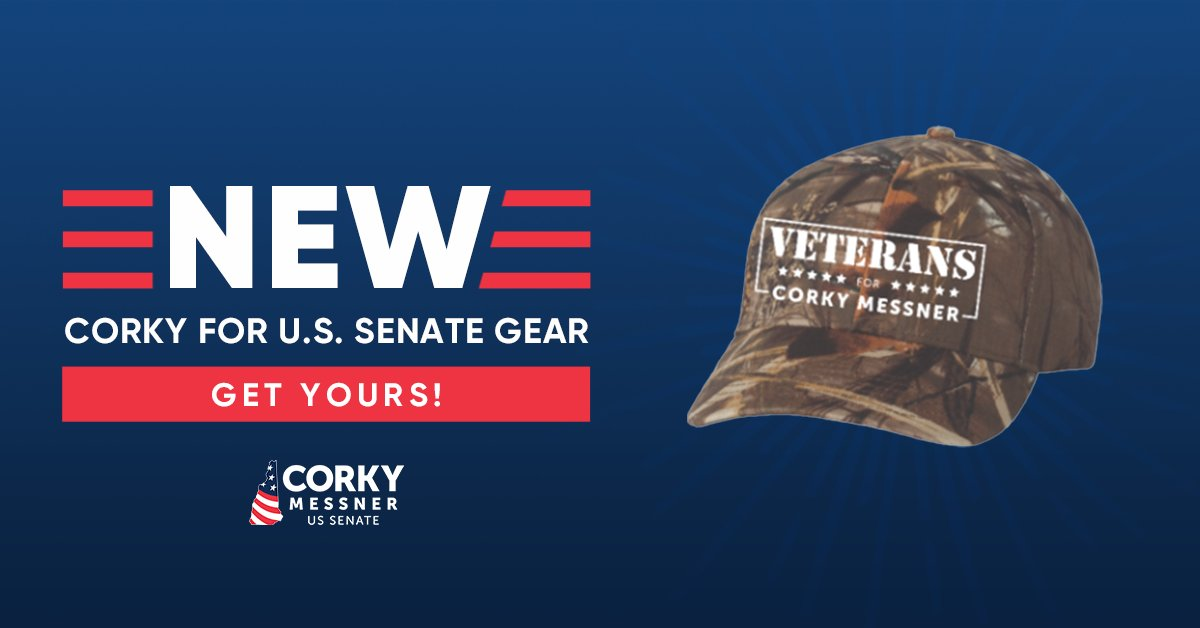 We're excited to announce that our Corky for Senate store is NOW OPEN! Put your support for Corky on display by getting your hat today!   Get yours here:    #nhpolitics #NHSen #MAGA2020
