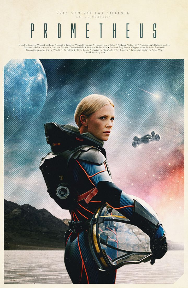 PROMETHEUS (2012) by Ridley Scott #Alien #prequel #scifi #poster by Justin Van Genderen