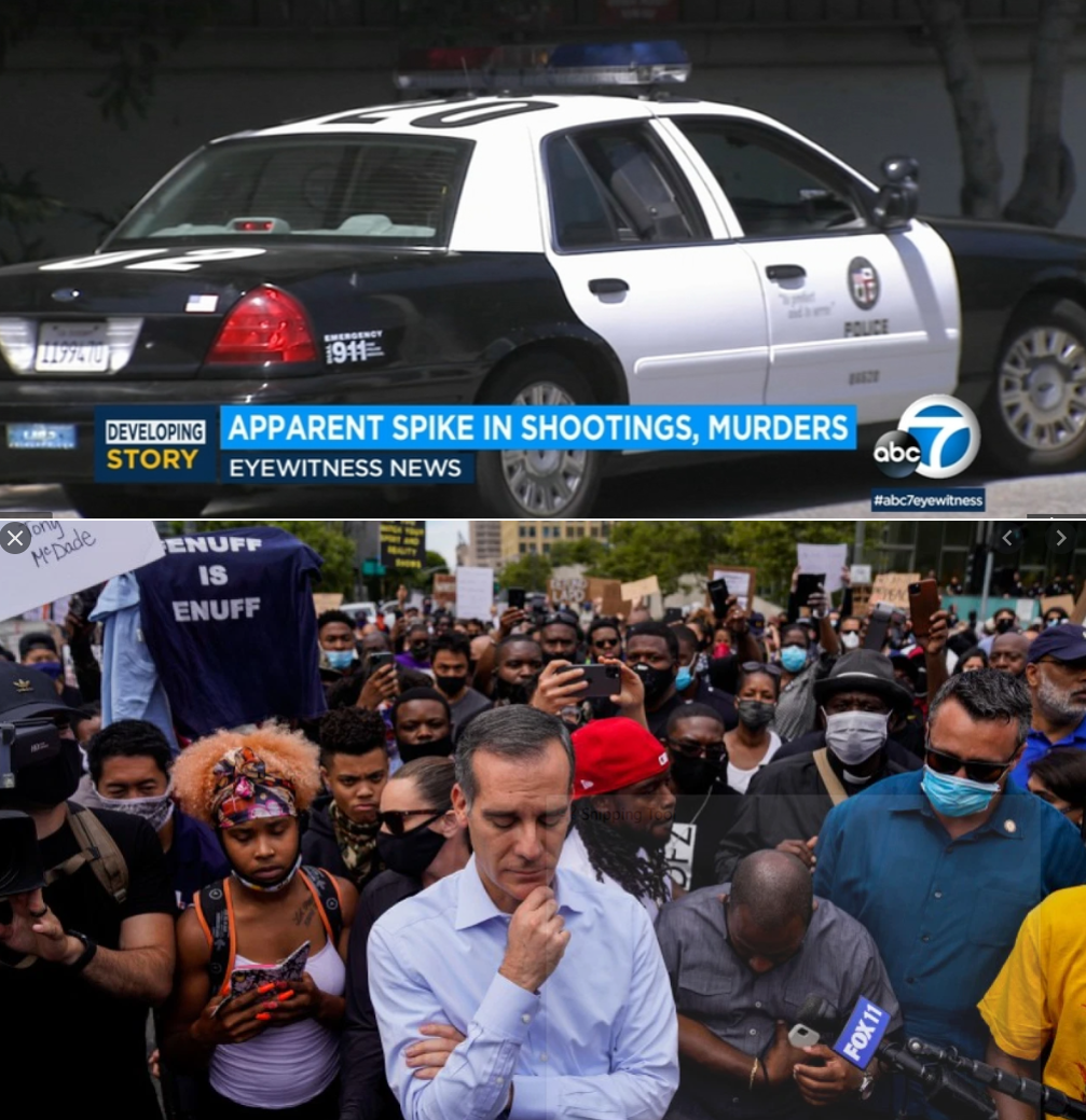 Following @MayorOfLA calls to cut @LAPDHQ budget by $250 Million and hugh uptick in local violent crimes, #LAPD now has to deal with the #BlueFlu pandemic, as higher than normal number of officers are calling it sick and who can blame them?