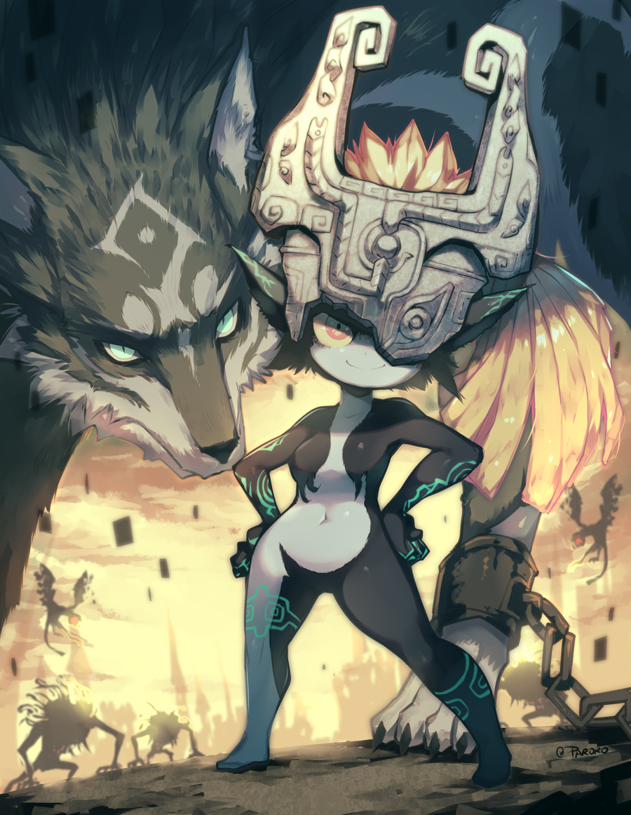 Wolf Link and his favorite imp girl I mean Midna 🐺😈