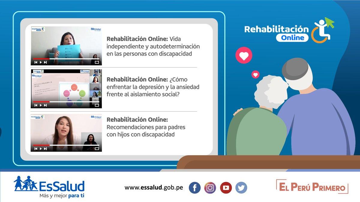 👩🏻⚕️ ¡Talleres en casa! 🧩 Ingresa a nuestro canal de #YouTube y participa del taller online de consejos saludables y especializados para personas con discapacidad. #RehabilitaciónOnline. 👉   #SeguimosEnGuardia 💙