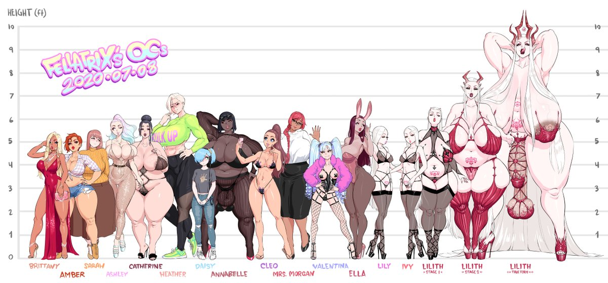 OC Roll Call (full)  That's all for now! These were fun to draw.