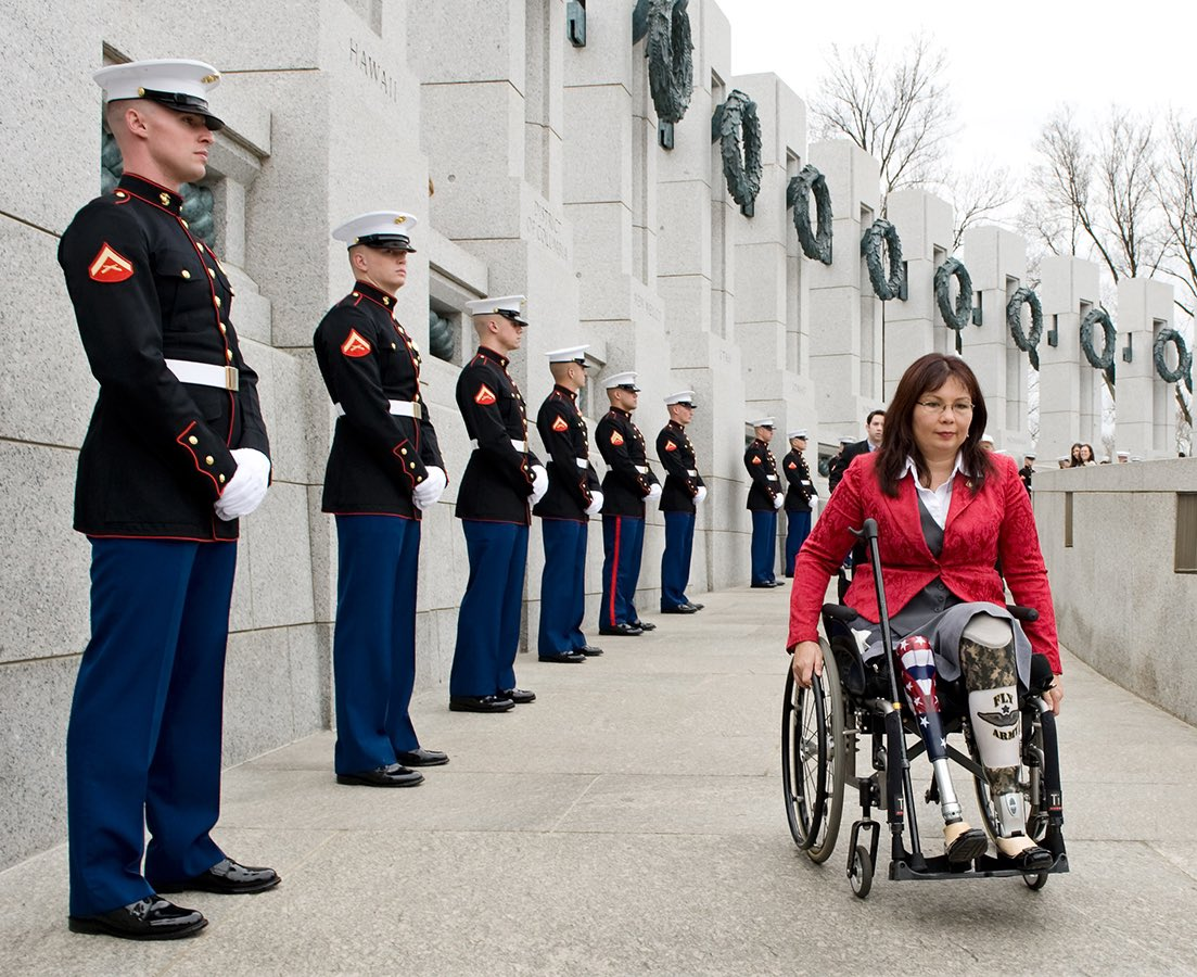"""Crenshaw is such a disgrace. Nobody ever expected anything of Tucker—but Crenshaw actually had potential and wasted it to be a follower.  Duckworth does not """"stand for the destruction of America."""" She can hardly stand for America at all—because she gave both her legs for it."""