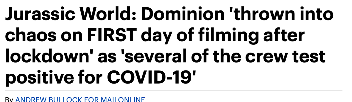 Sorry to bother you - just wanted to remind you that almost a month ago I tweeted about how wrong it was to go into production and um (non-Covid-19*cough*cough) I was right.