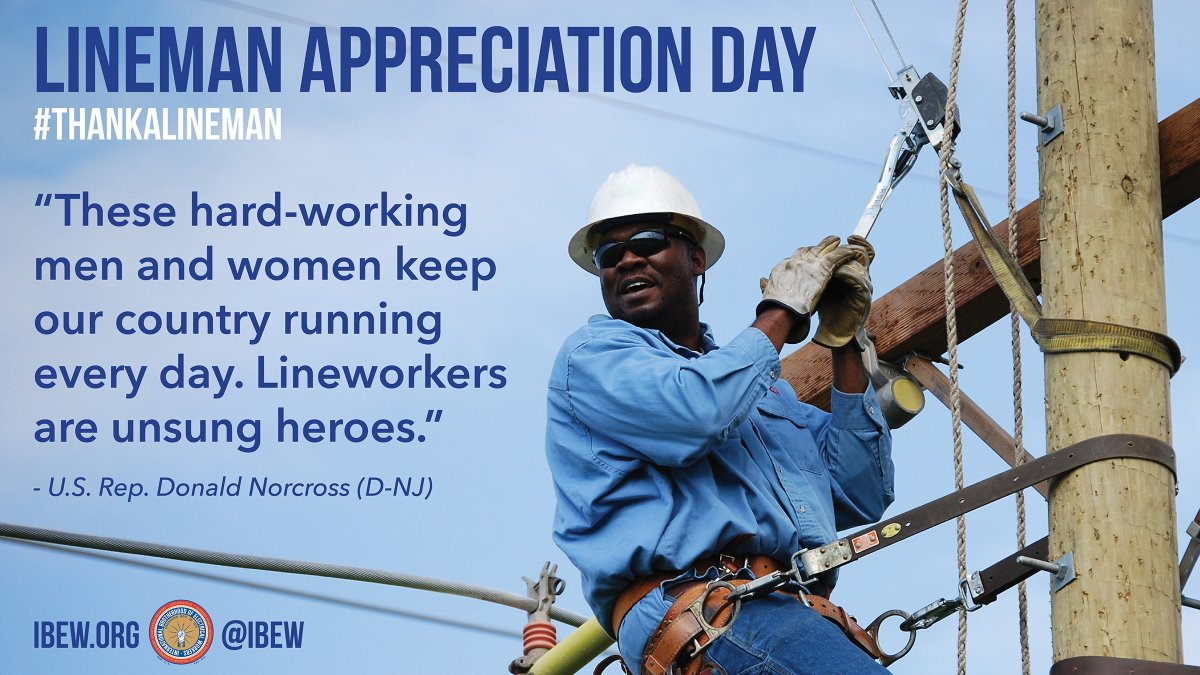 Make no mistake. Our linemen and linewomen are unsung heroes. Did you #ThanksALineman yet?